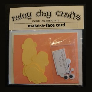 "Rainy Day Crafts ""Make a Face"" DIY Card Kit"