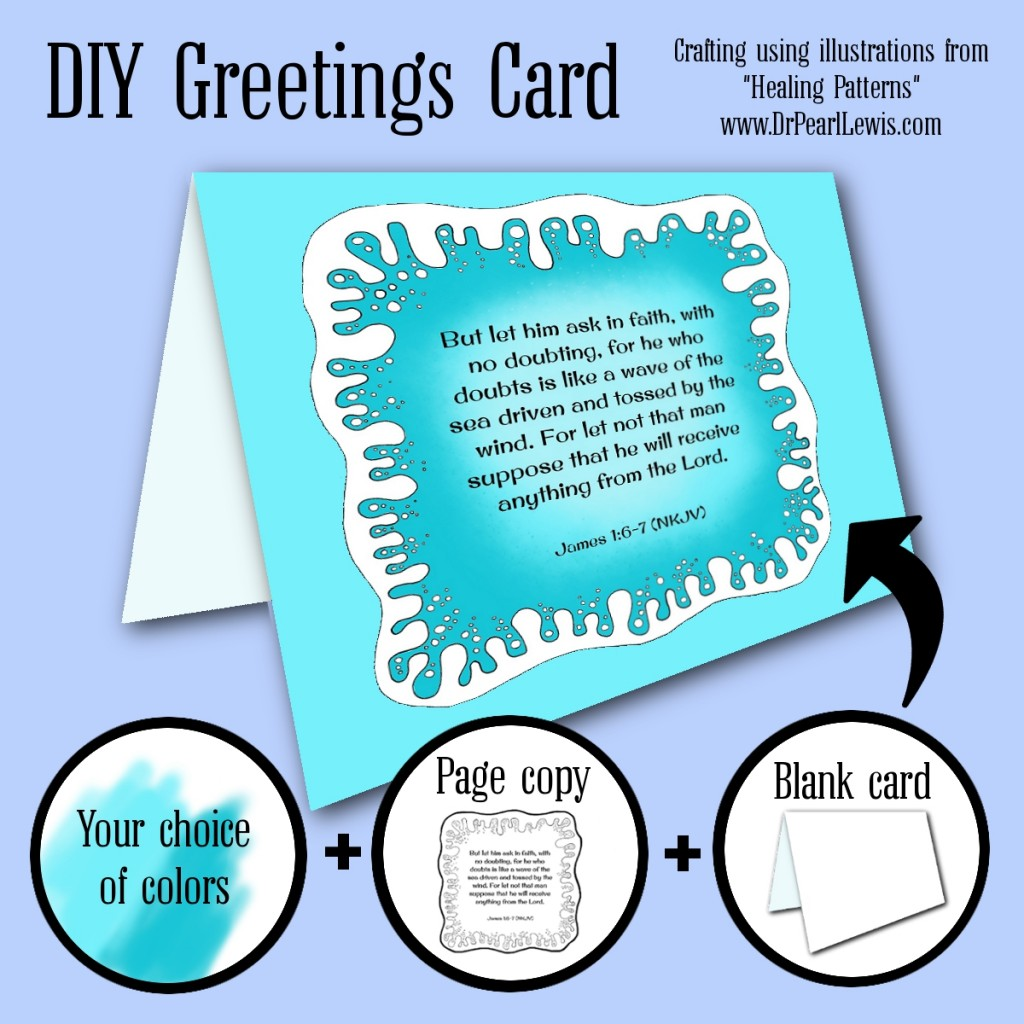 DIY Greeting Card - Healing Patterns