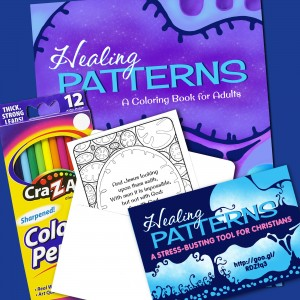 Healing Patterns Adult Coloring Art Therapy Kit for Christians