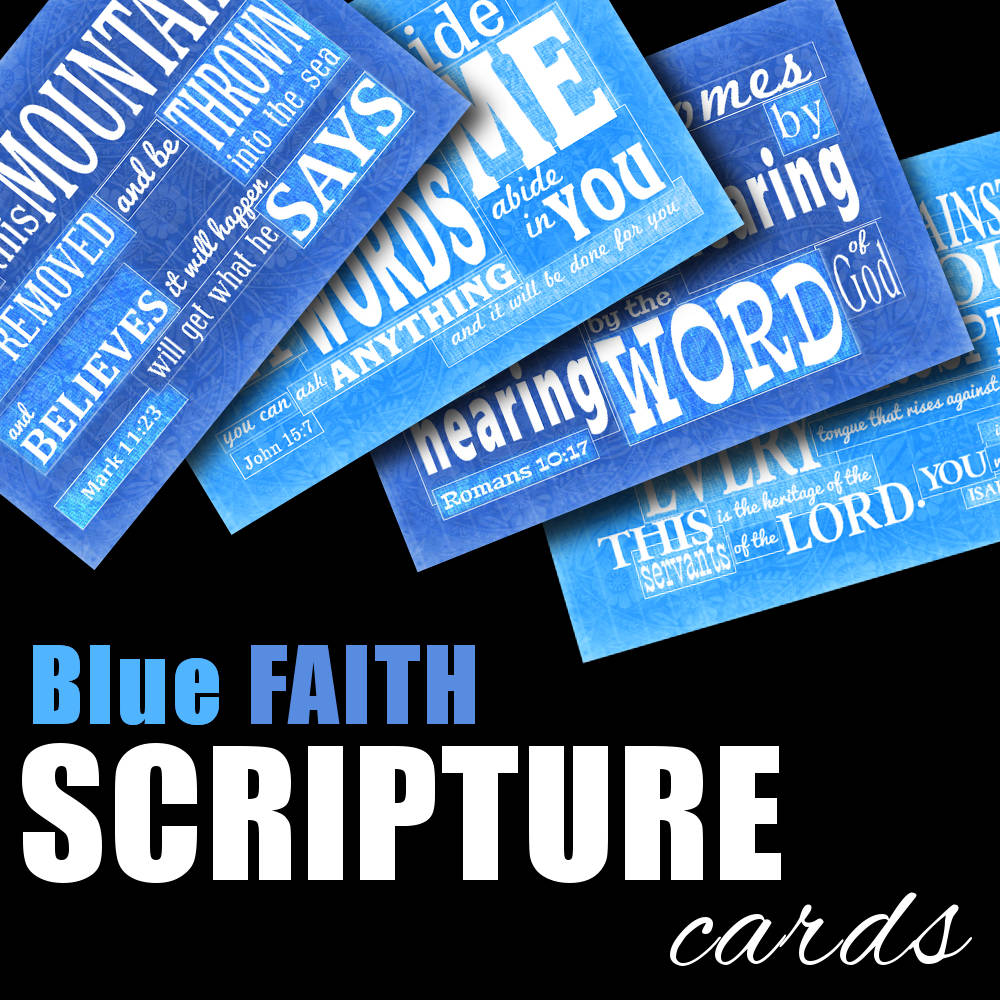 Blue Faith Scripture Memory Cards from www.DrPearlLewis.com