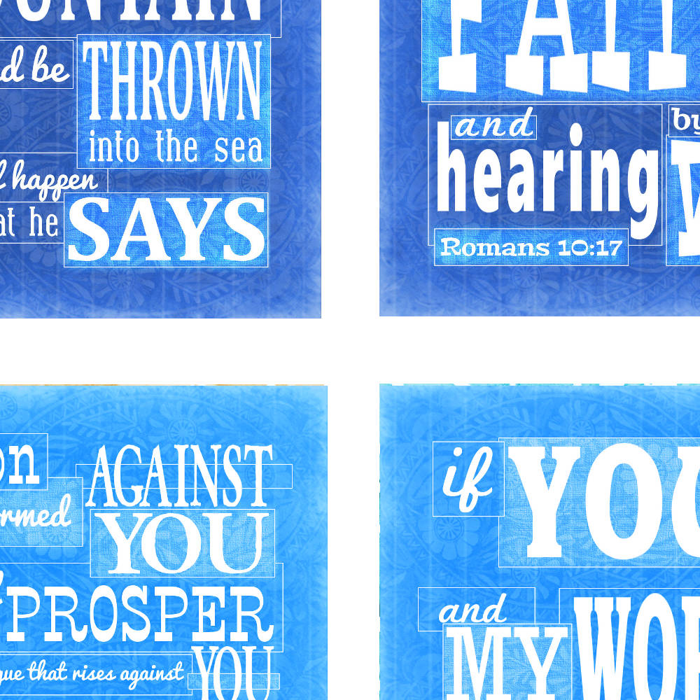 Blue Faith scripture cards from www.DrPearlLewis.com
