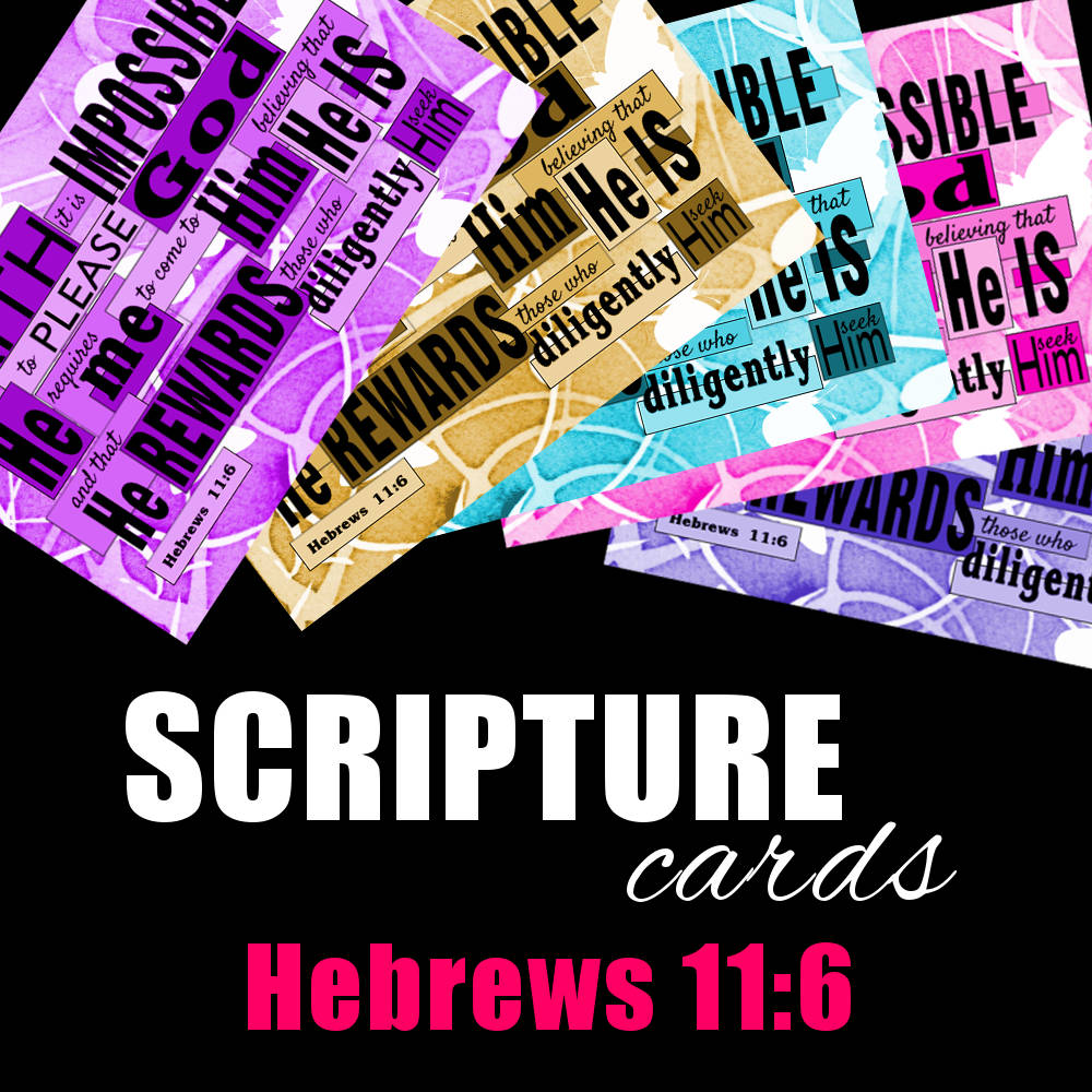 Scripture Cards: Heb 11v6 available from www.DrPearlLewis.com