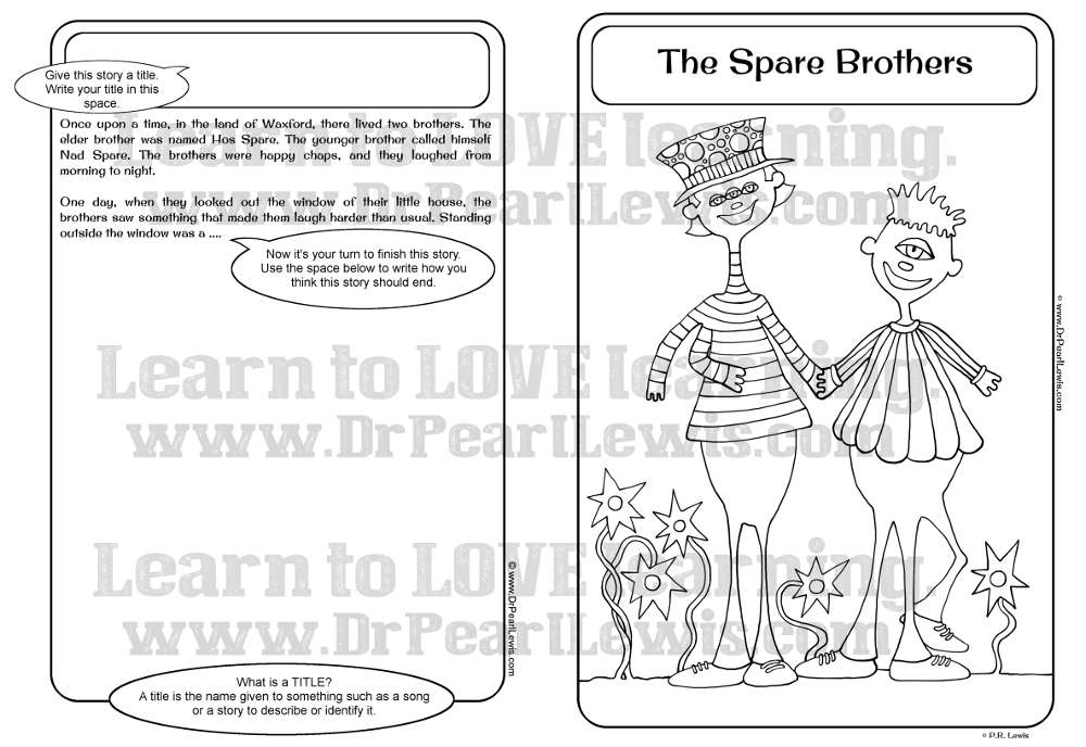 Preview The Spare Brothers Creativity Worksheet