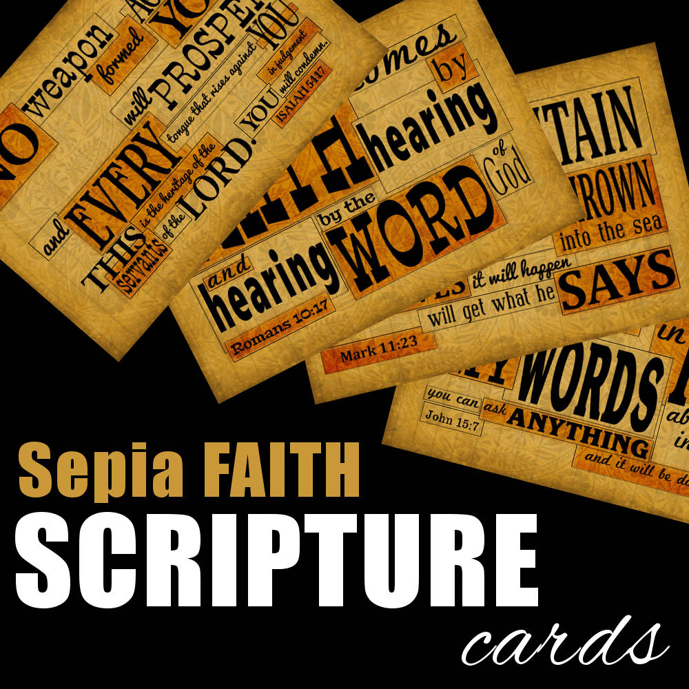 Sepia Faith Scripture Cards available from www.DrPearlLewis.com