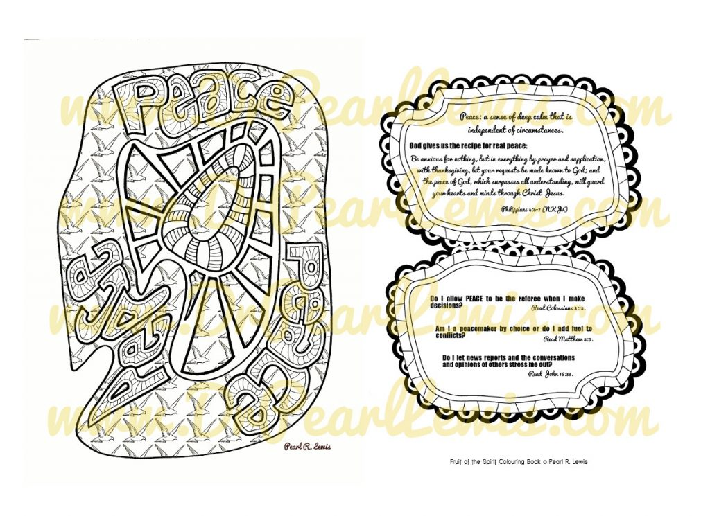 Fruit of the Spirit: Peace PREVIEW (watermark does not appear in the product you purchase)