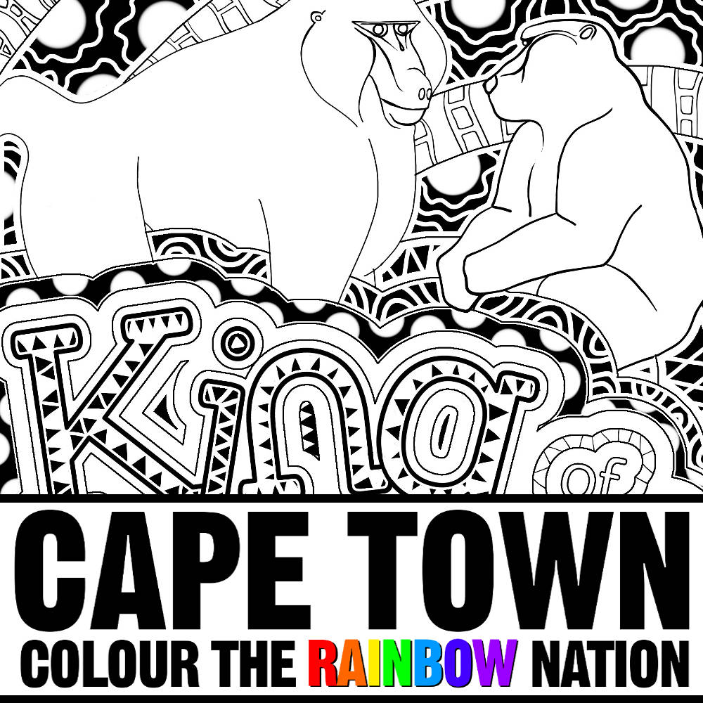 Cape Town: Mountain Baboon Royalty Colouring Pages