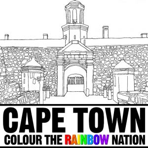 Castle of Good Hope and City Hall - Historic Cape Town: Colour the Rainbow Nation Coloring Book by Pearl R. Lewis