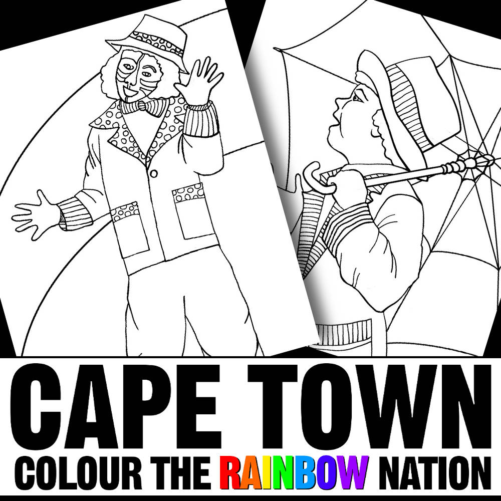 Cape Town: Kaapse Klopse Colouring Pages