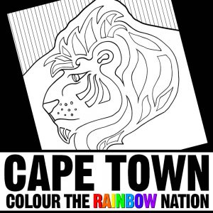 Lions Head - Cape Town: Colour the Rainbow Nation Coloring Book by Pearl R. Lewis