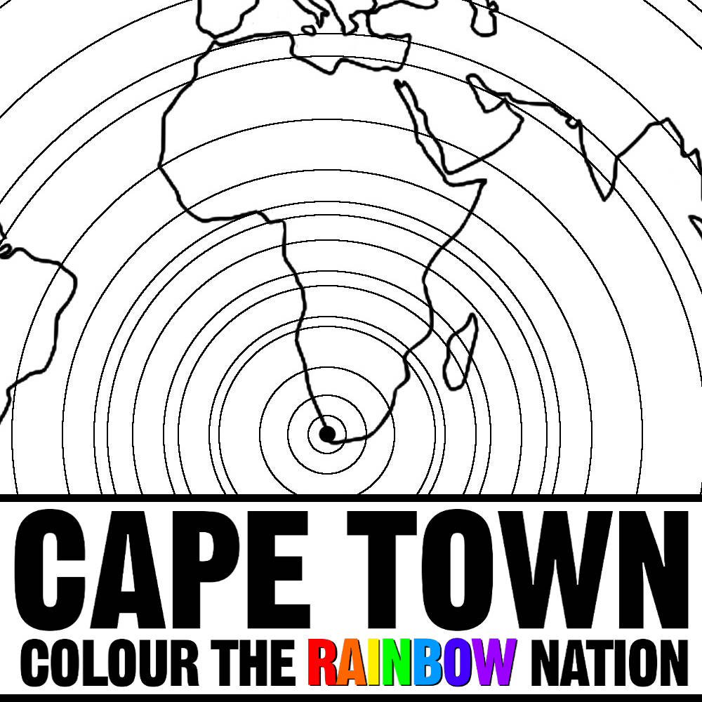 Cape Town: On the World Map Colouring Pages