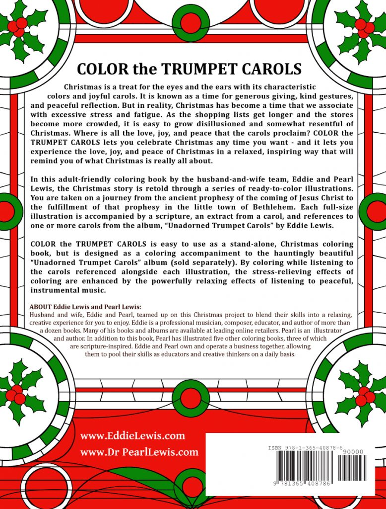 #colorthecarols - Color the Trumpet Carols - Christmas music and coloring by Eddie and Pearl R. Lewis