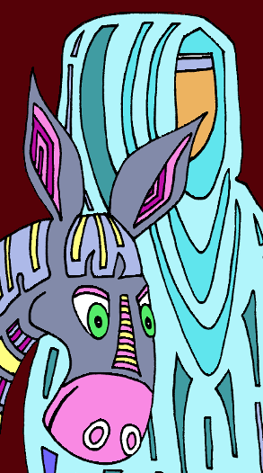 #colorthecarols - Joseph Leads the Donkey from Color the Trumpet Carols