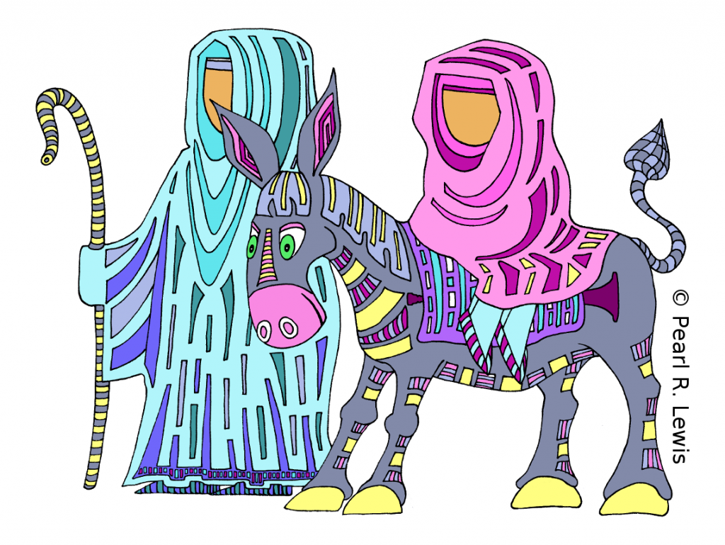 #colorthecarols - Mary and Joseph from Color the Trumpet Carols